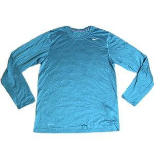 Nike Dri Fit Athletic Shirt Blue Running/Workout